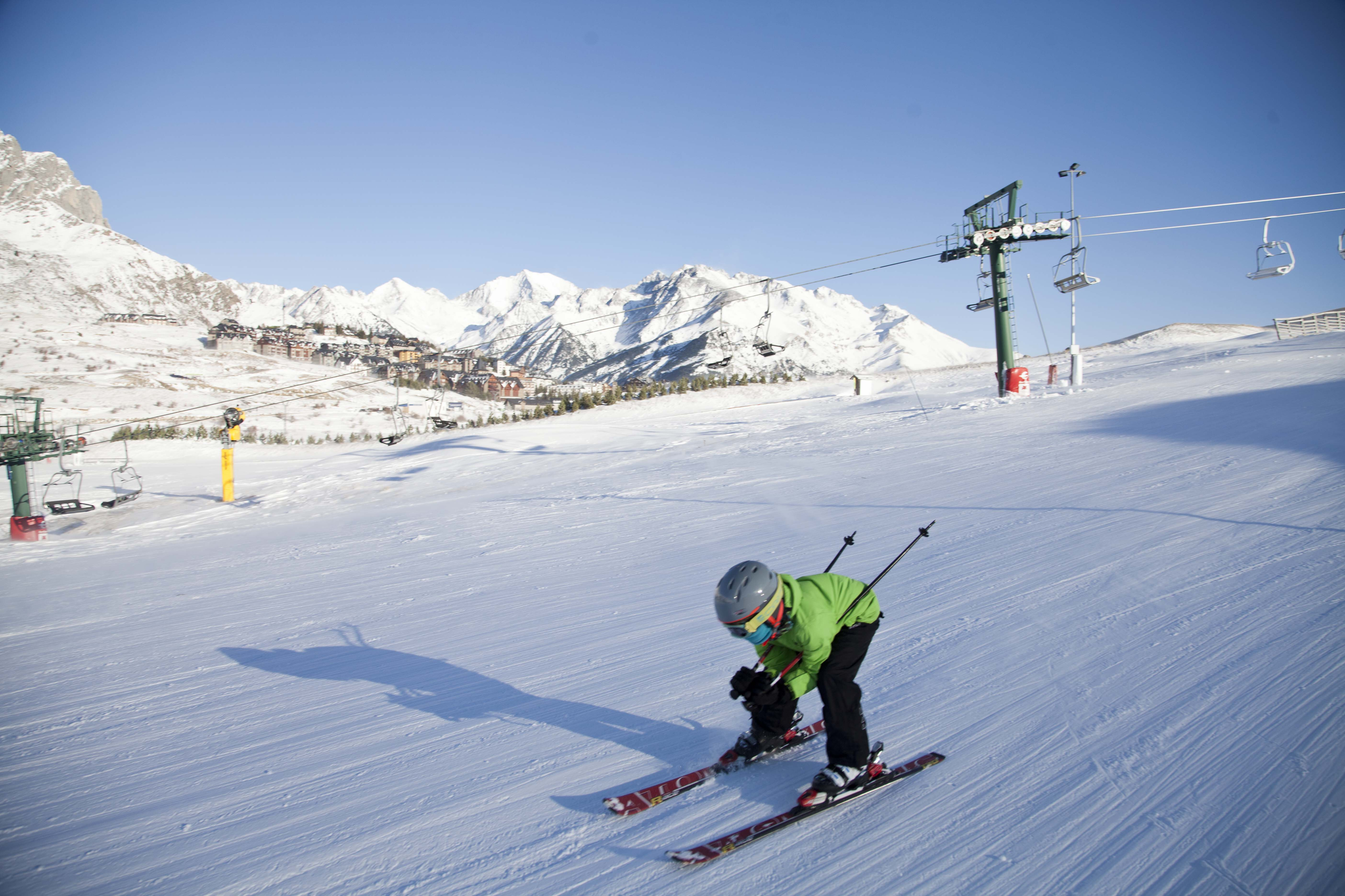 esquiador en Sextas, Formigal
