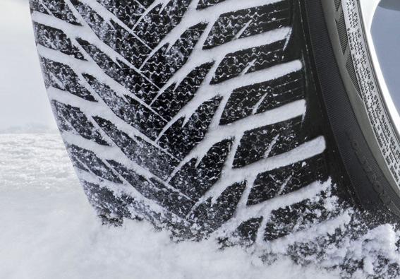 Detalle de las ruedas de invierno