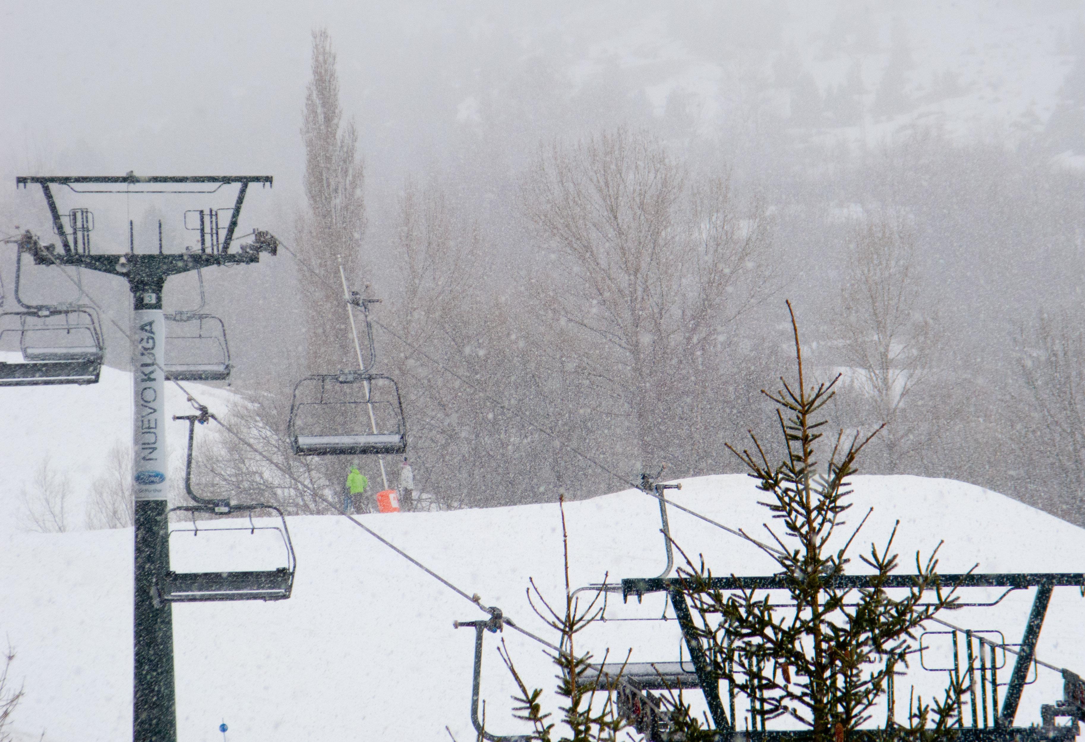 Nevando hoy en Cerler
