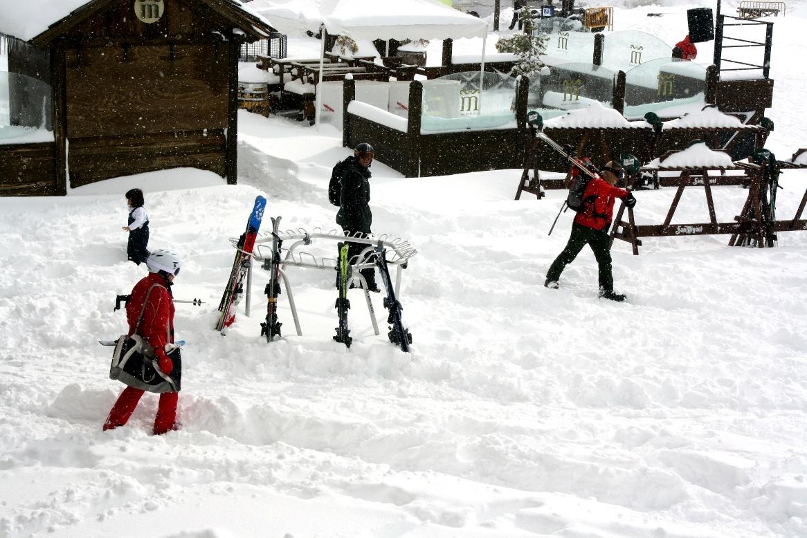 la nevada ha dejado unos 40 cm de nieve en Formigal