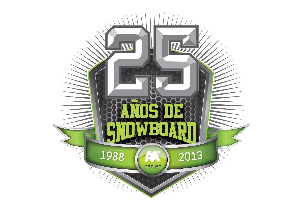 logo aniversario snowboard cerler