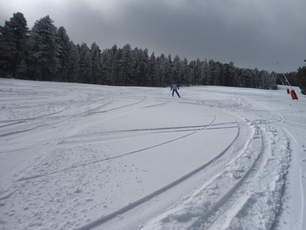 5 cm de nieve recién caída hoy en Aramón Valdelinares