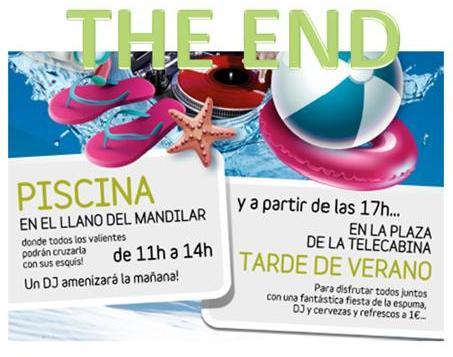 Cartel fiesta final de temporada de Panticosa