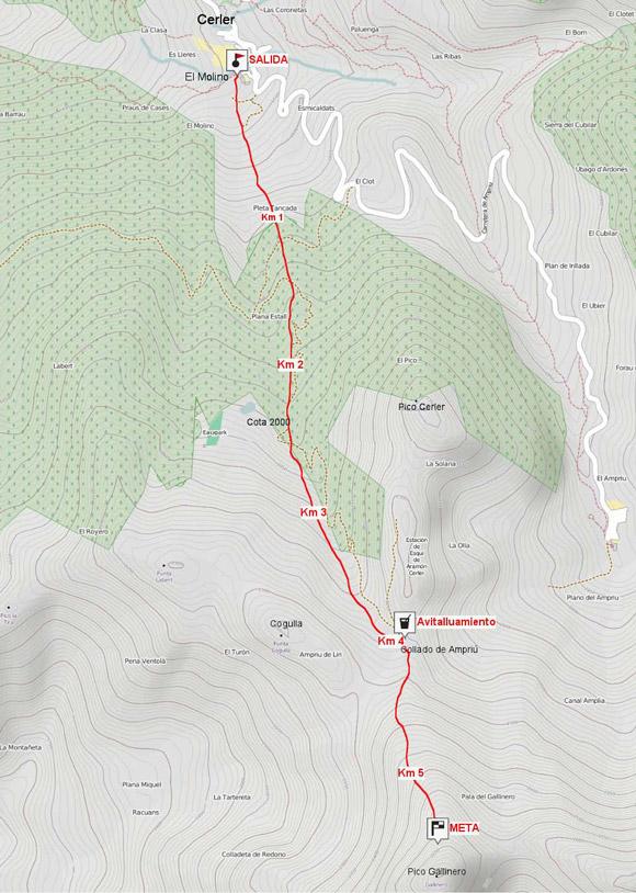 mapa del Km vertical