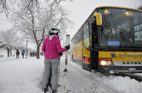 El bus de la región de Jungfrau une tres estaciones
