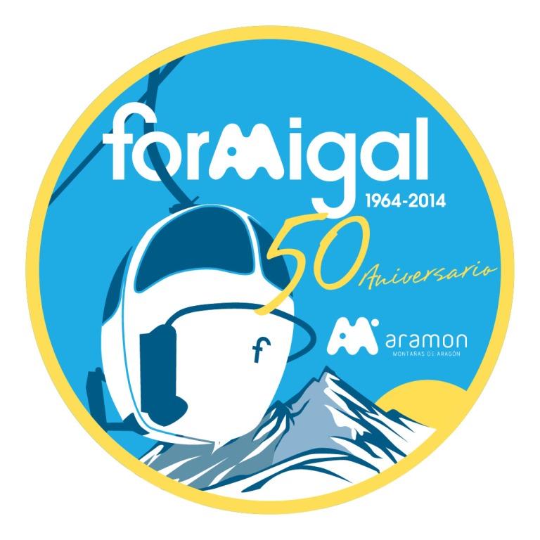 Logo 50 aniversario de Aramón Formigal