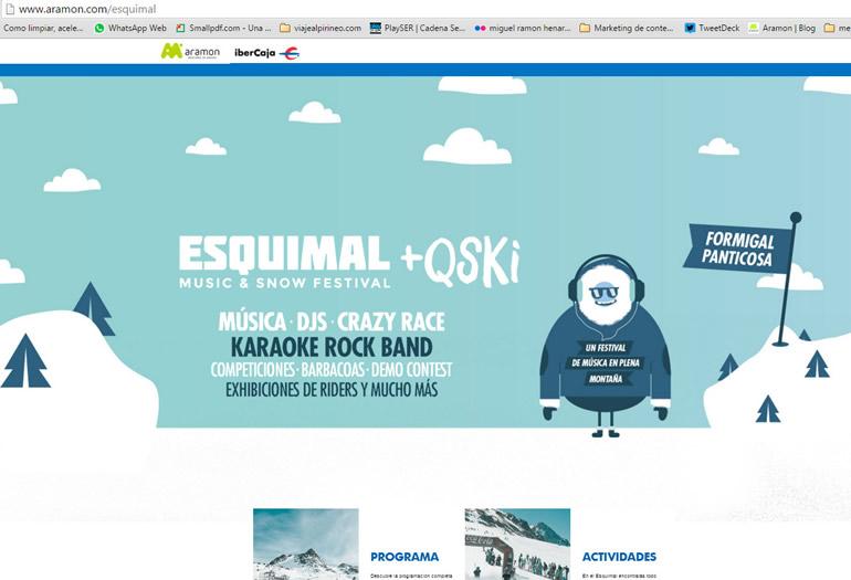 CONOCE LA WEB DEL FESTIVAL ESQUIMAL +QSKI