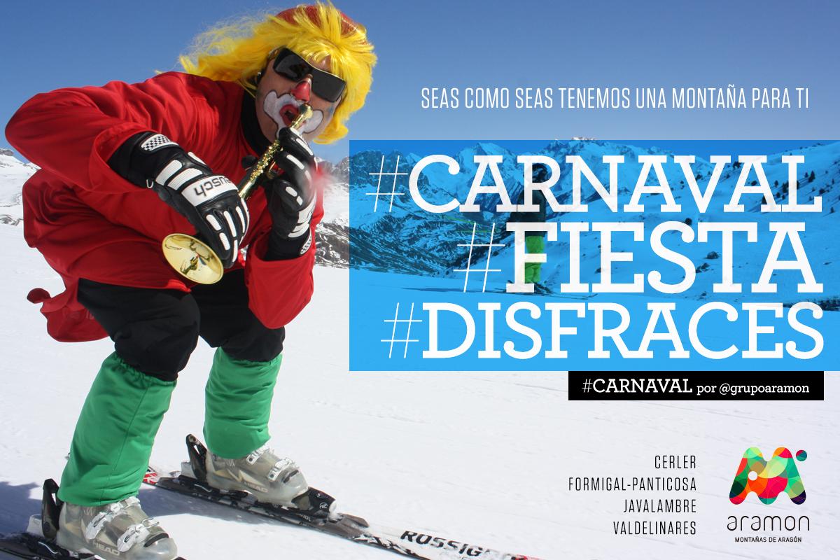 Disfrázate con nosotros en el Carnaval de la estaciones Aramón