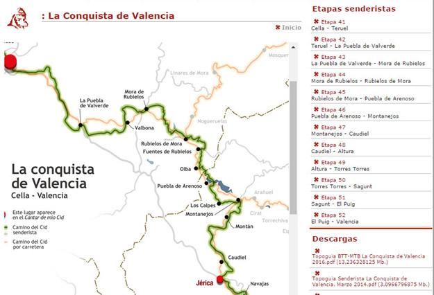 Las etapas del Camino del Cid a su paso por la provincia de Teruel