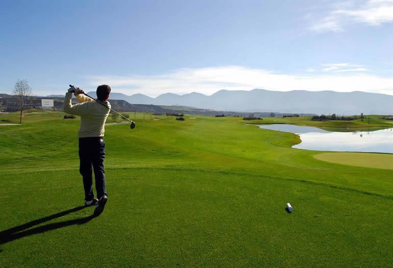 campo de golf de las Margas, en Sabiñánigo