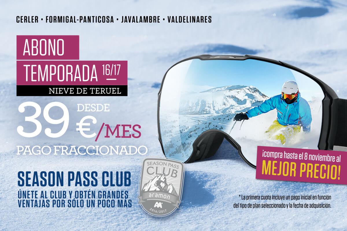 Cálzate las tablas desde 39 euros al mes y ven a conocer Nieve de Teruel