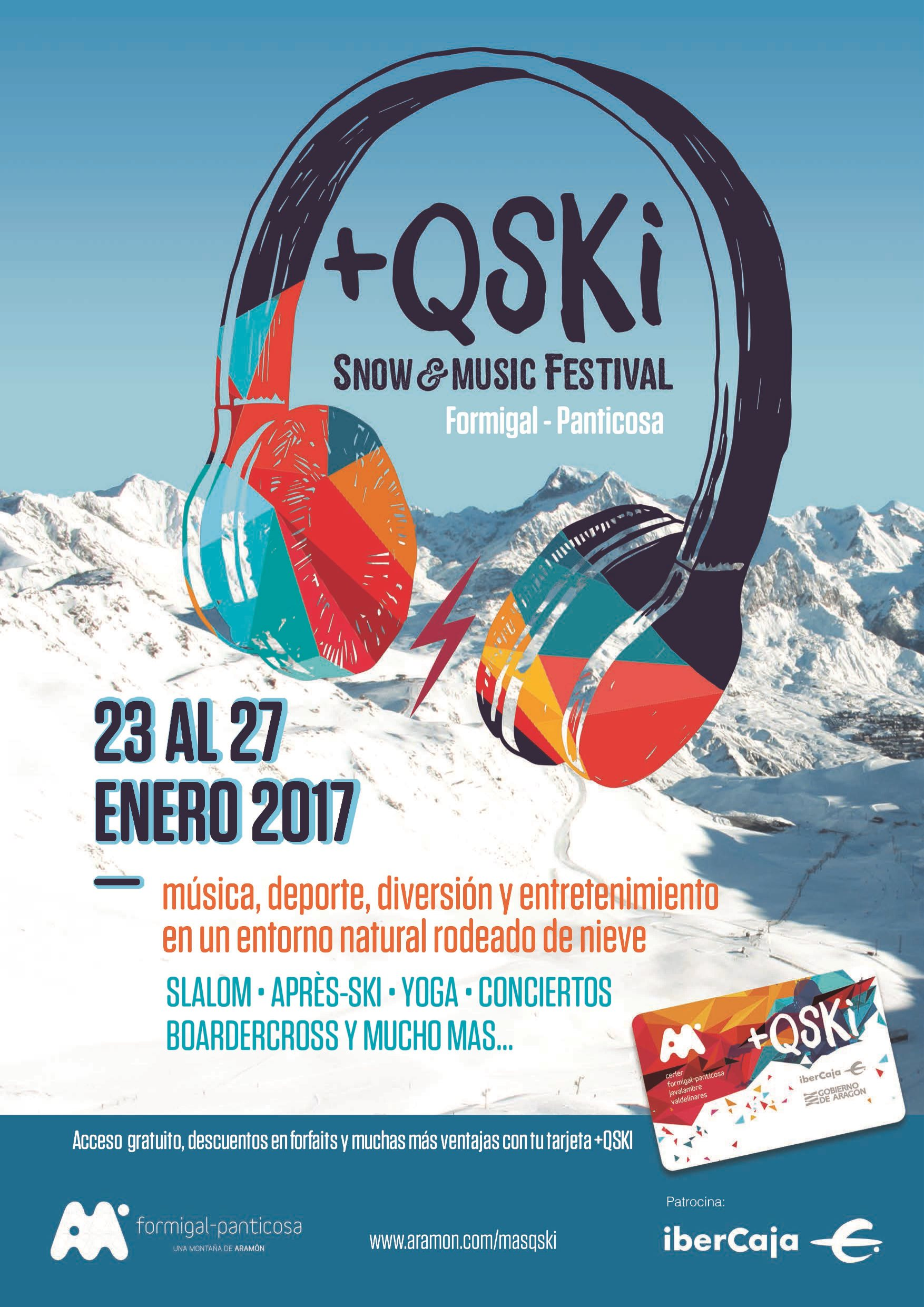 Música y deporte en el festival +QSKI, que se celebrará en Formigal del 23 al 27 de enero