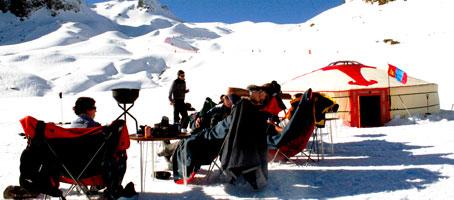 La Yurta está situada en la zona de Portalet de Formigal