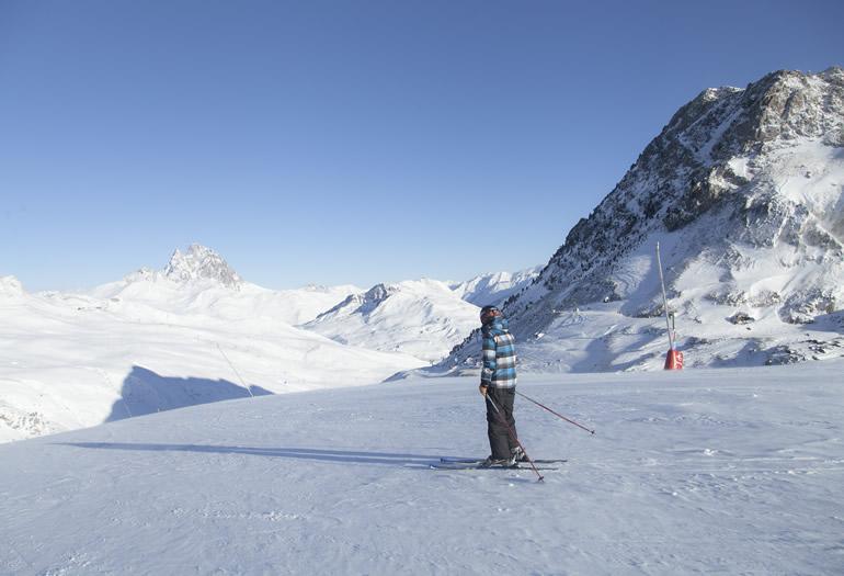 Esquiadora en Formigal