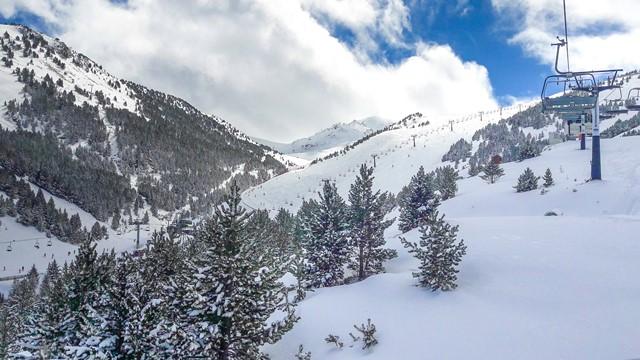 Imagen de Cerler tomada el pasado jueves 23 tras la primera nevada de esta última semana