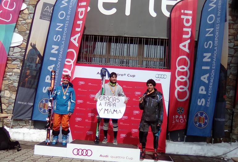 Guillermo Arruebo: «Me gustaría ganar una Copa del Mundo de esquí»