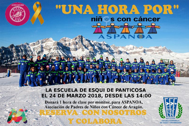 La Escuela de Esquí de Panticosa lanza 'Una hora por' para recaudar fondos para la lucha contra el cáncer infantil