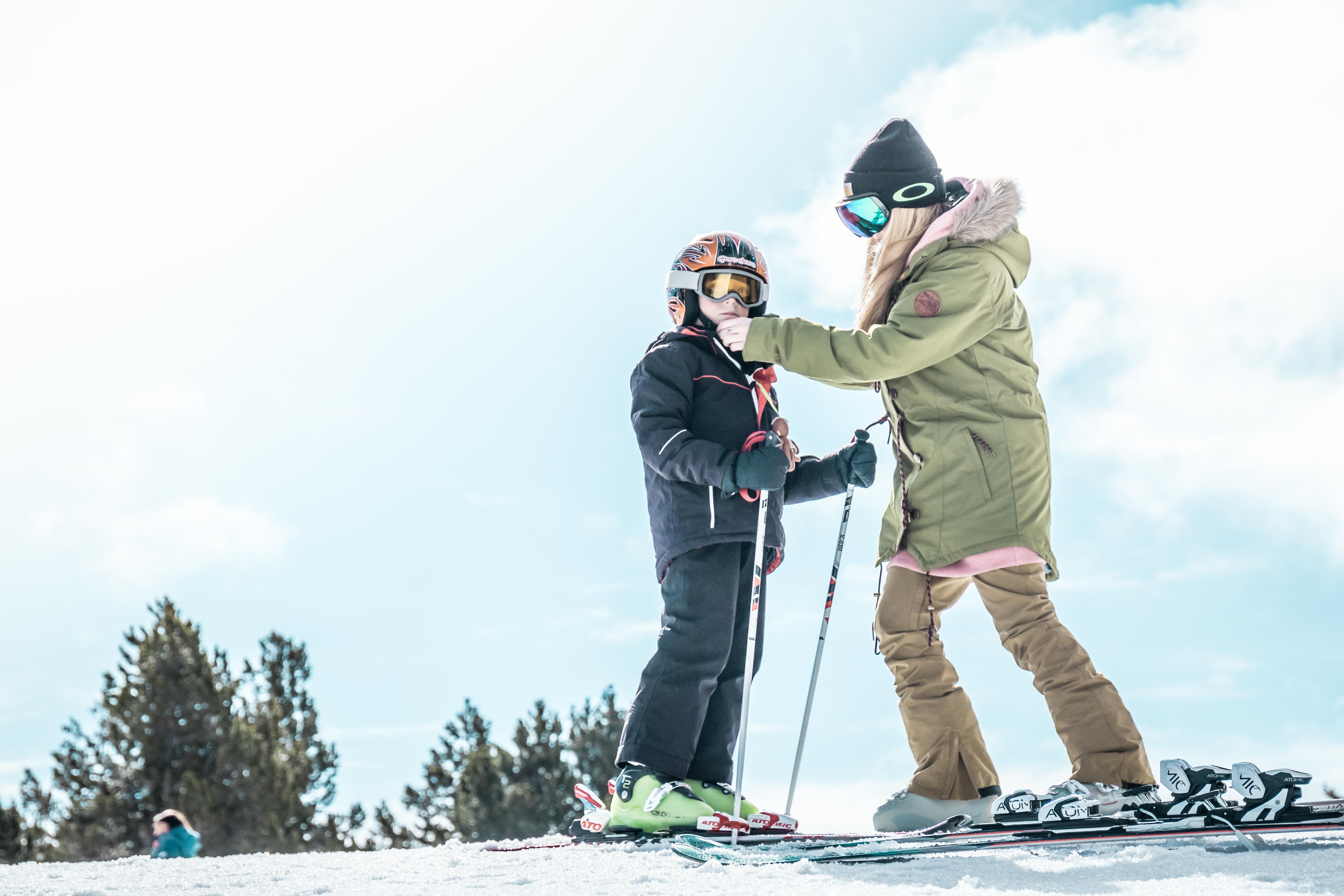 Consejos para ir a esquiar con niños