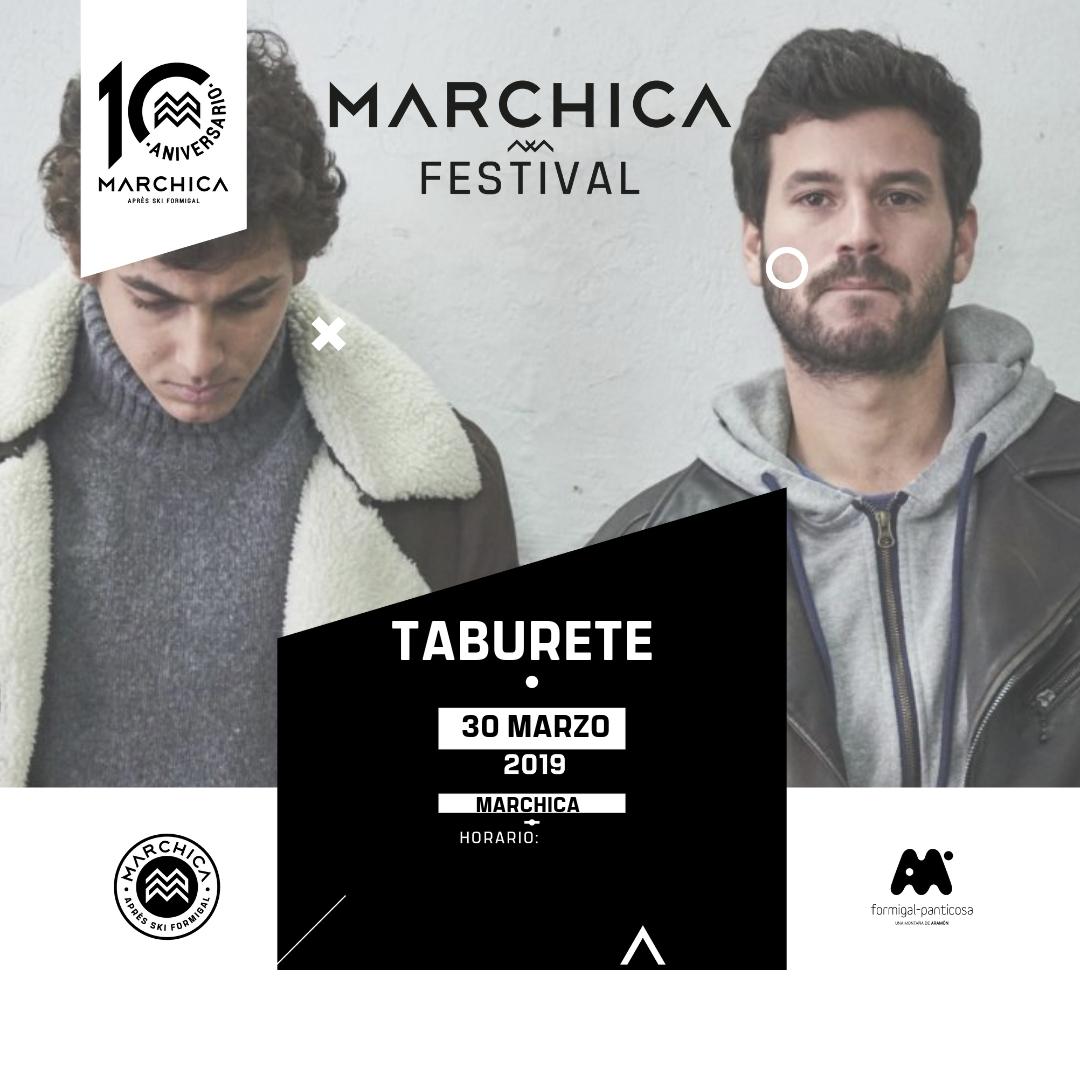 ¡Confirmado! Taburete se sube al escenario de Marchica a las 17.00