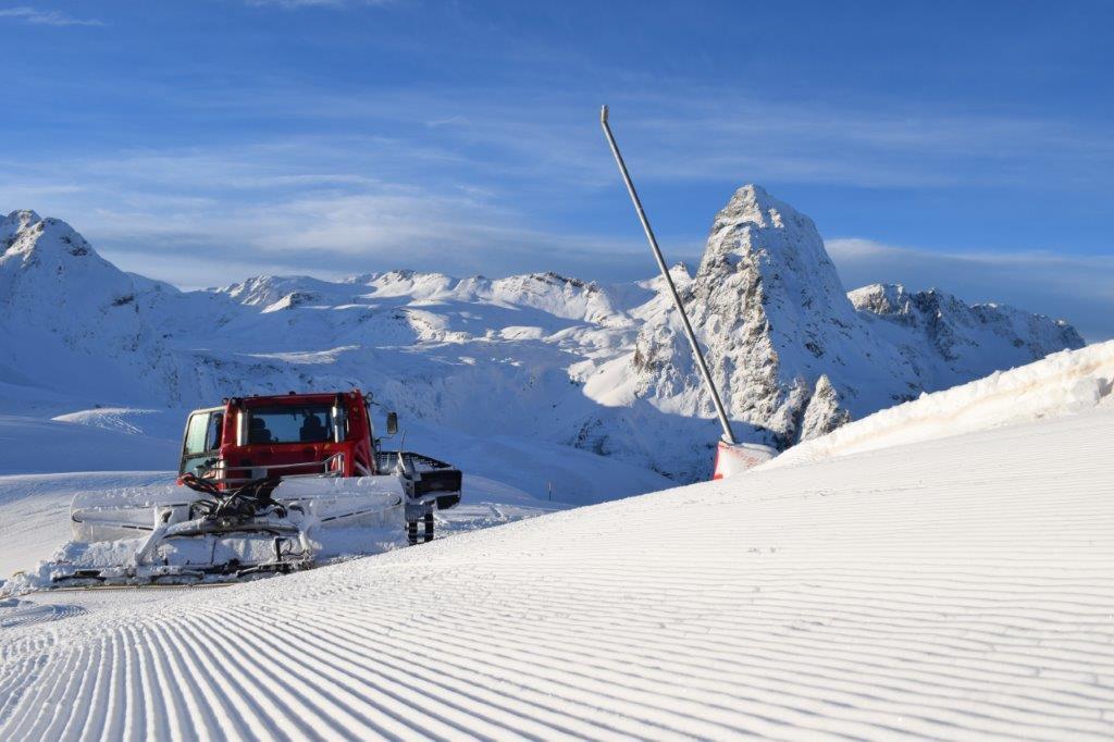 Cómo se preparan las pistas de esquí