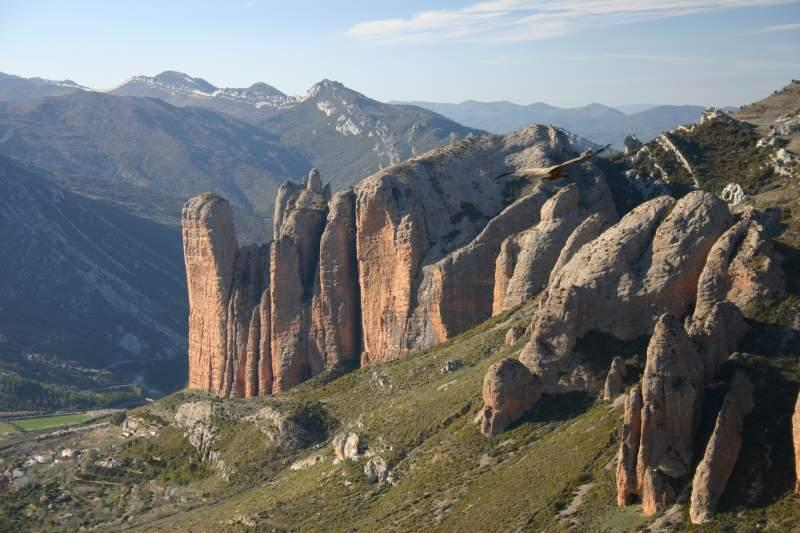 Los Mallos de Riglos. Foto: Turismo de Aragón