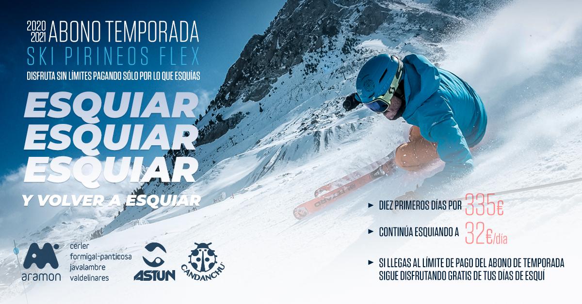 Los 10 días del abono SKI PIRINEOS FLEX serán válidos ¡dos temporadas de esquí!