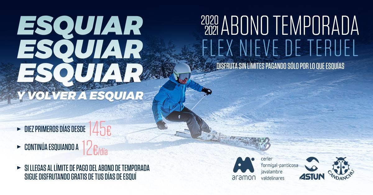 Los 10 días del abono flex Nieve de Teruel serán válidos dos temporadas de esquí