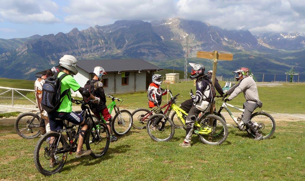 bicicleta montaña formigal panticosa