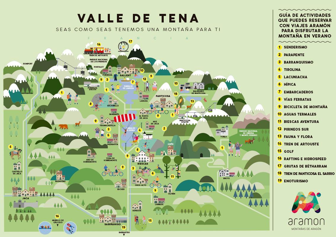 Valle De Tena Mapa.Venta Actividades Verano Formigal Panticosa Estacion De