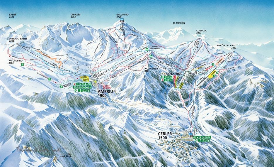 Mapa de pistas Cerler