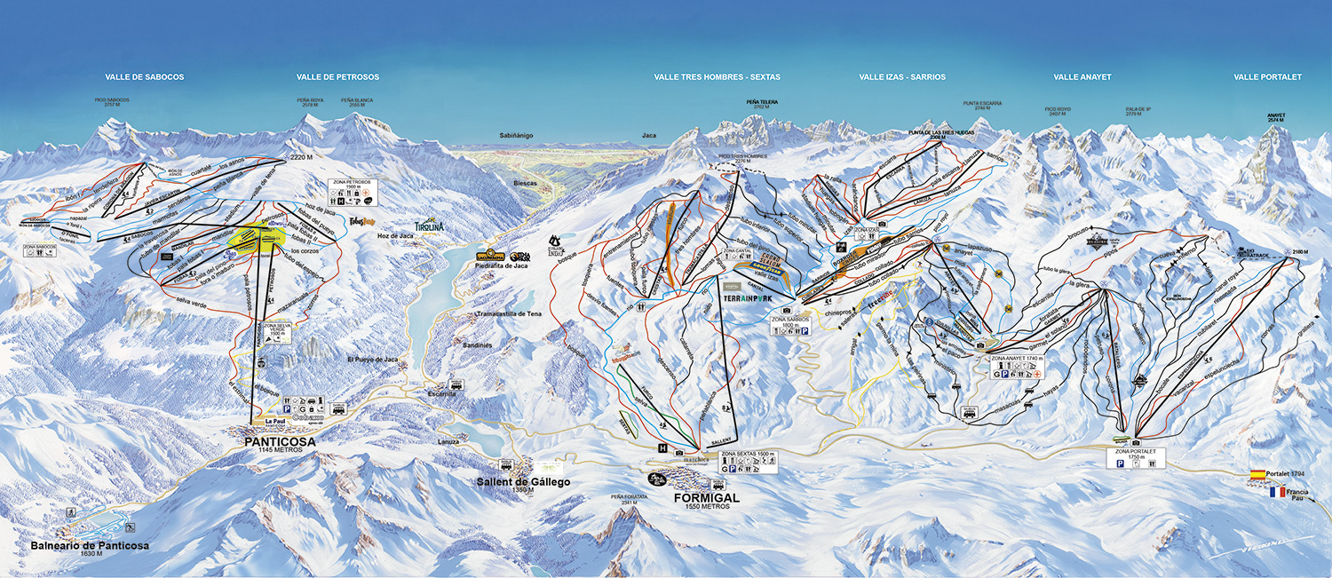 Mapa pistas panticosa my blog for Jardin de nieve formigal